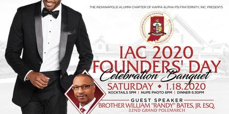 Indianapolis Alumni Chapter of Kappa Alpha Psi Fraternity, Inc. 2020 Founders' Day Celebration Banquet tickets