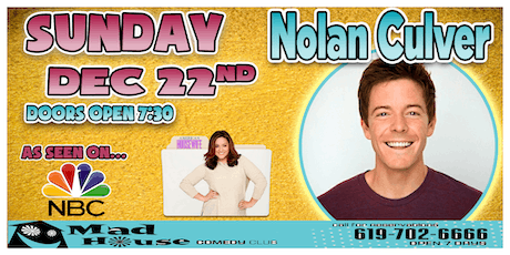 Nolan Culver as seen on NBC's American Housewife and more! tickets