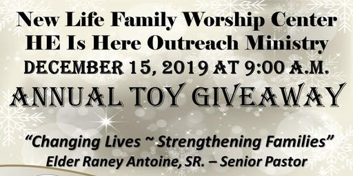 New Life & HE Is Here Toy Giveaway 2019