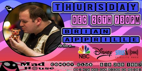 Brian Apprille as seen on NBC, Disney, Sirus XM Comedy Radio and more! tickets