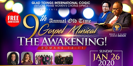 "GTI's VPWC 9th Annual Old Time Gospel Musical ""The Awakening!"" tickets"