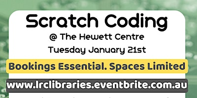 School Holidays - Scratch Coding @ The Hewett Centre