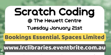 School Holidays - Scratch Coding @ The Hewett Centre tickets