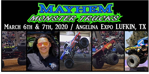 LUFKIN, TEXAS - Mayhem Monster Truck Show