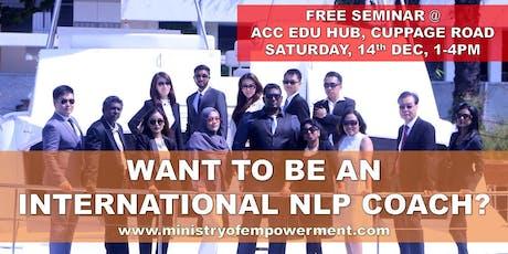 Be A NLP Coach Free Seminar (American Board Certification) tickets