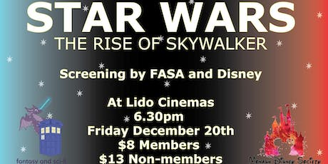 Star Wars: The Rise of Skywalker, Screening with FASA and MDS tickets