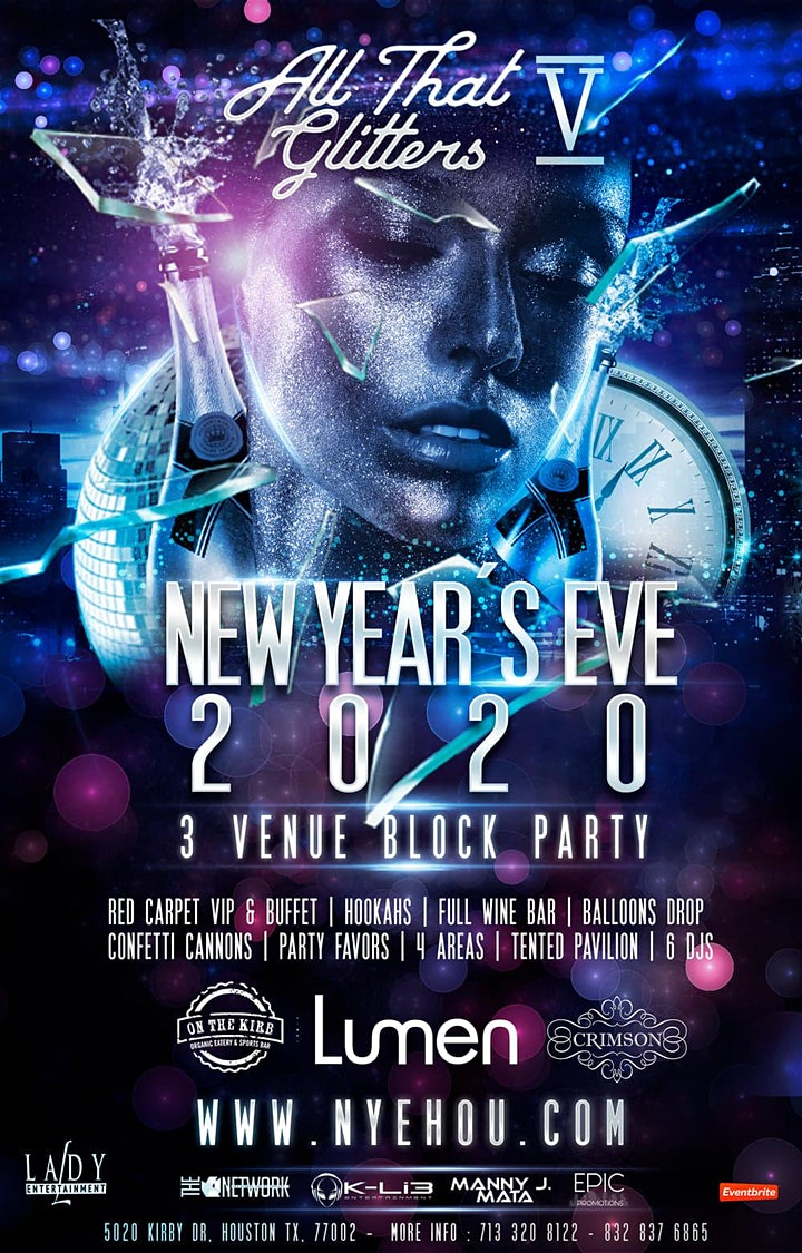 A NYE  PARTY 2020/ ALL THAT GLITTERS  5 UPPER KIRBY BLOCK PARTY image