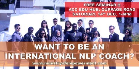 Triple NLP Certification (NLP Practitioner, Timeline Therapy, NLP Coaching) tickets