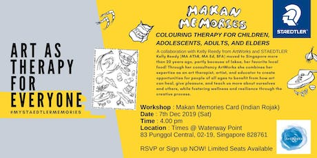 Art as Therapy - Makan Memories tickets