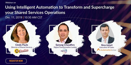 Webinar: Using IA to transform and supercharge your shared services operati tickets