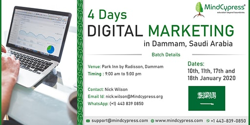 Digital Marketing 4 Days Training by MindCypress at Dammam