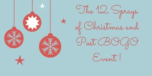 12 Sprays of Christmas and Post BOGO Event