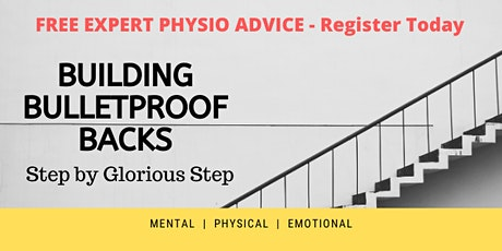 Build a BULLETPROOF BACK - Expert Physio Advice tickets