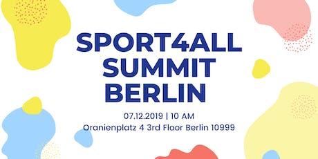 Sport4All Summit Berlin - Inclusion in Sport through EU  tickets