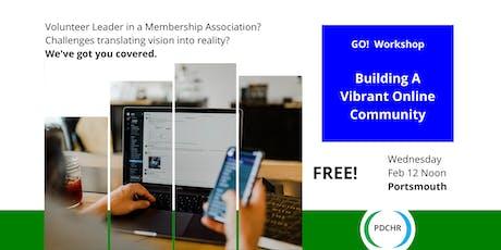PDCHR Workshop—Building a Vibrant Online Community tickets