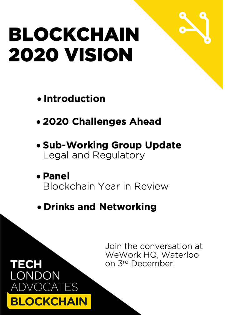Tech London Advocates Blockchain - 2020 Vision image