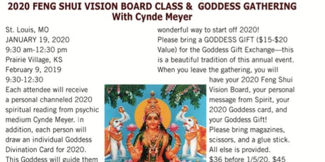 2020 Feng Shui Vision Board Class & Goddess Gathering tickets