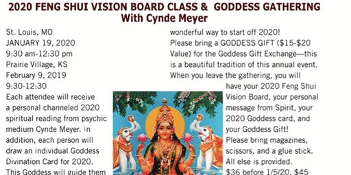 2020 Feng Shui Vision Board Class & Goddess Gathering