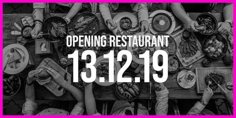 Opening Restaurant Ingenhousz Breda | First Day tickets