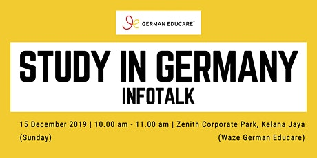 World Class Education - Study in Germany Info Talk [Kelana Jaya] tickets