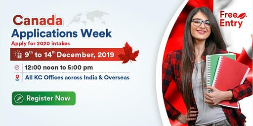 Attend Canada Applications Week from 9th to 14th Dec'19 at KC Offices