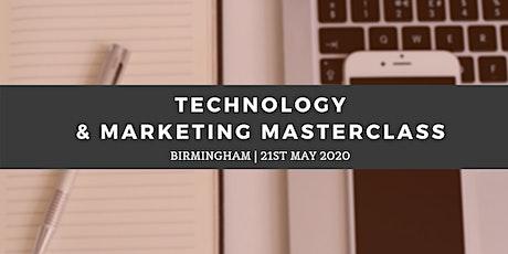 Technology & Marketing Masterclass - Birmingham (21st May) tickets