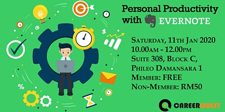 Personal Productivity with Evernote tickets