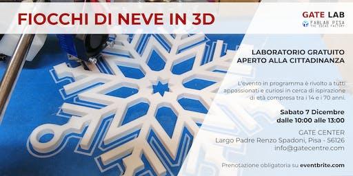 FIOCCHI DI NEVE STAMPATI IN 3D