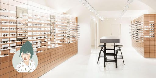 Fräulein Flora Afterwork im VIU Eyewear-Store