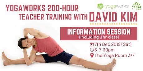 YogaWorks 200-Hour Teacher Training - Information Session with David Kim tickets