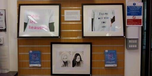 """Think Positive"" Art Display (Bolton le Sands)"