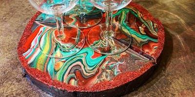 Viens créer ton dessous de plat en Fluid Art!