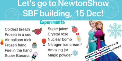 Holidays time! Catch NewtonShow @ SBF 15 Dec