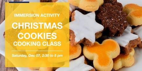 Christmas Cookies- Culinária em inglês ingressos