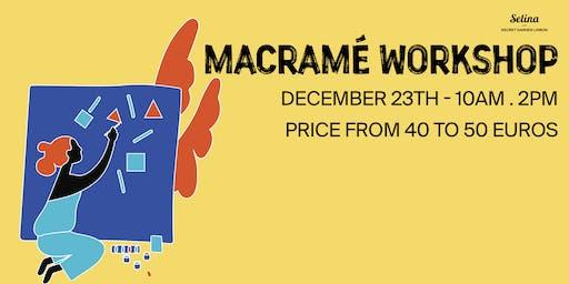 Macramé Workshop with Macra-home¯¯  and macramé lifestyle