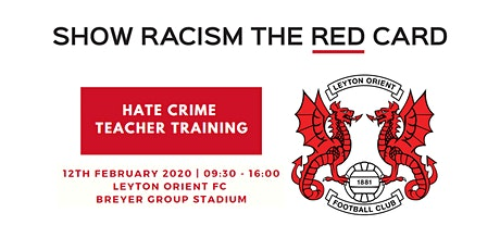 Hate Crime Teacher Training - Leyton Orient FC tickets