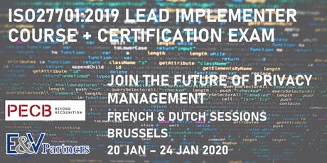 ISO 27701:2019 Lead Implementer Course (FRENCH) tickets