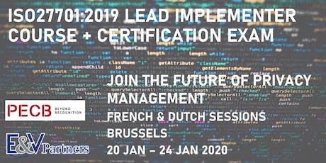 ISO 27701:2019 Lead Implementer Course (FRENCH) biglietti