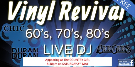 60, 70s, 80s Party at the Country Girl - ft. Vinyl Revival tickets