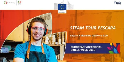 ItaliaCamp and Ytali in the European Vocational Skills Week | STEAM TOUR PESCARA