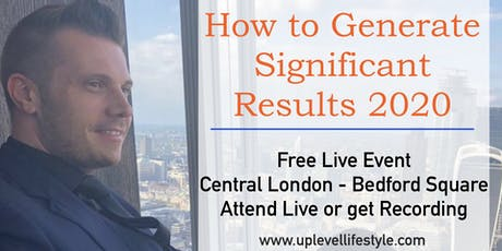 How to Generate Significant Results 2020 tickets
