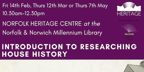 Introduction to House History Workshop - FREE tickets