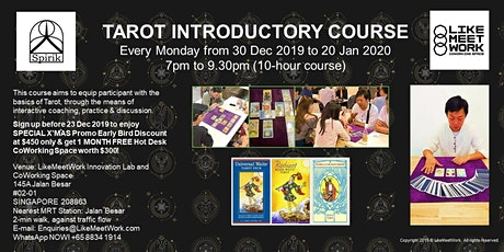 Tarot Introductory Course tickets