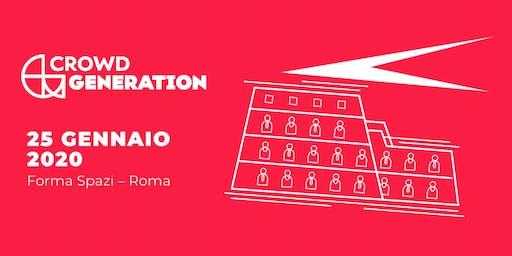 CROWD GENERATION | Roma 25.01.2020