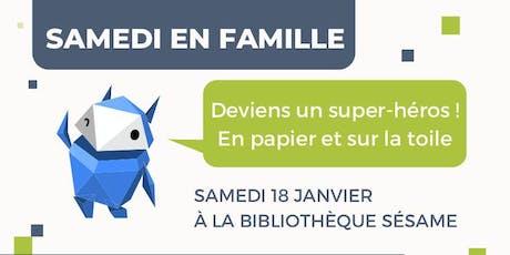 """Atelier interactif """"Deviens un cyber héros !"""" pour enfants 8-14 + parents billets"""