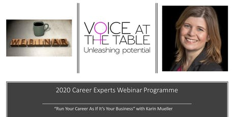 WEBINAR: Run your Career As If It's Your Business - A Tactical Take On Career Planning tickets