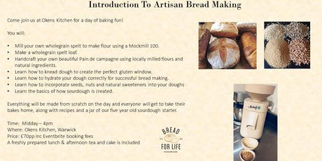 Introduction to artisan bread making tickets