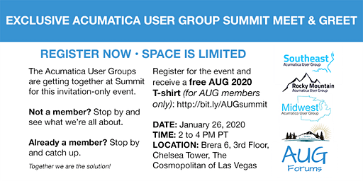 Acumatica User Group Summit Meet & Greet