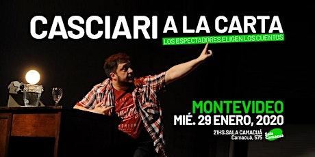 Casciari a la carta — MIÉ 29 ENE, Montevideo entradas