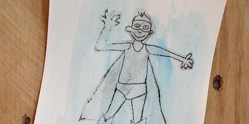 """Atelier créatif """"Dessine tes super-héros !""""        + 5 ans"""